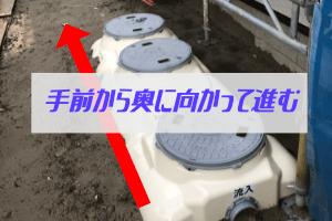 浄化槽は設置場所には注意。高低差があるのでタンクを高く設置する必要がある