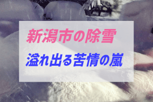 新潟市の除雪に対する苦情について