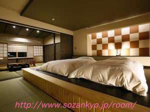 参考になる阿蘇温泉の旅館画像|和室で布団
