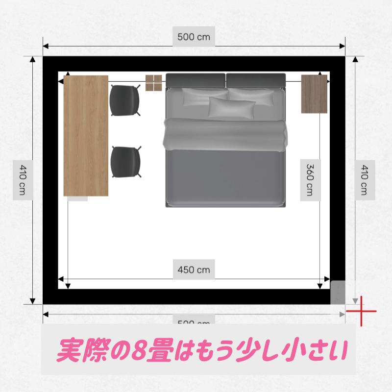 10畳ベッドルーム寝室のイメージ