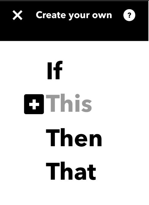 IFTTT設定画面の最初の項目THIS