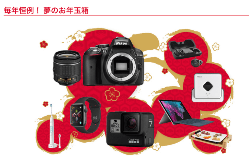 2020年のヨドバシカメラのお年玉箱