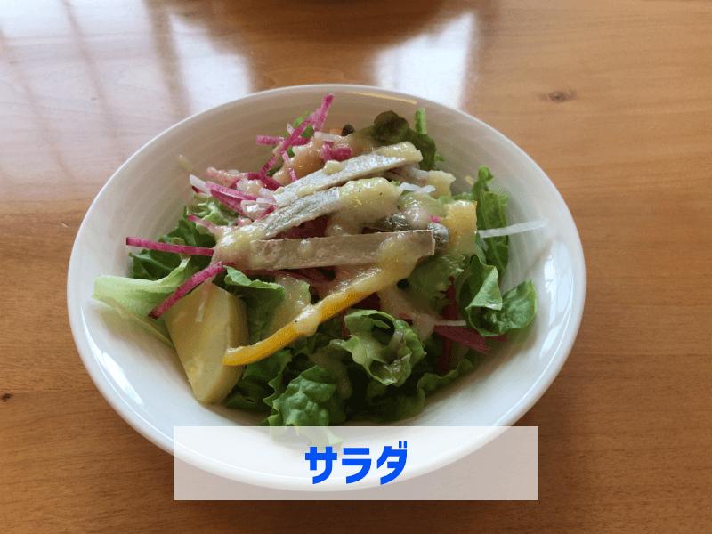 新発田市トラットリア ピッコラ・フェリーチェのサラダ