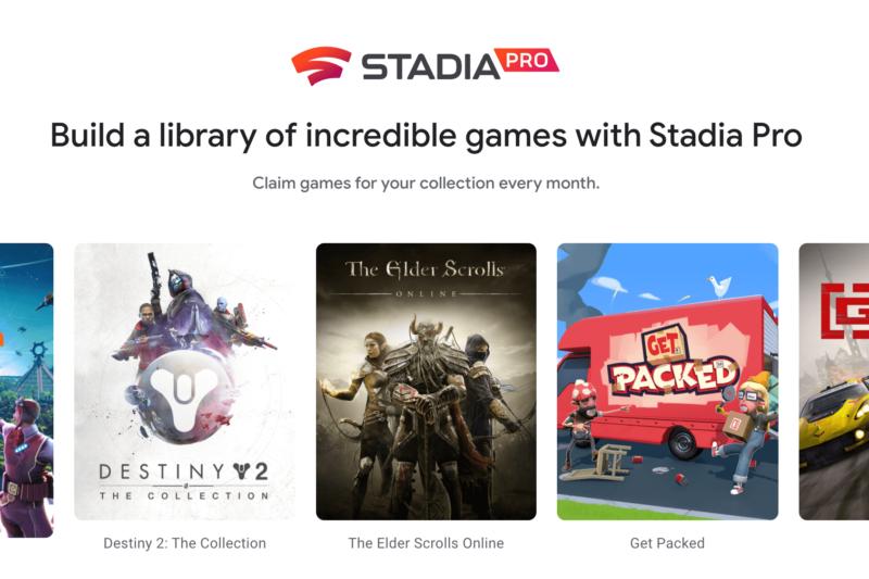 Stadiaのトップページ画面
