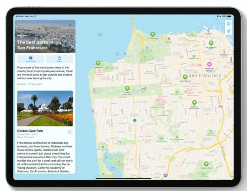 Appleのシティガイド、マップの変更点