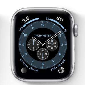 Appleのクロノグラフプロ、タキメーターはこんな感じ