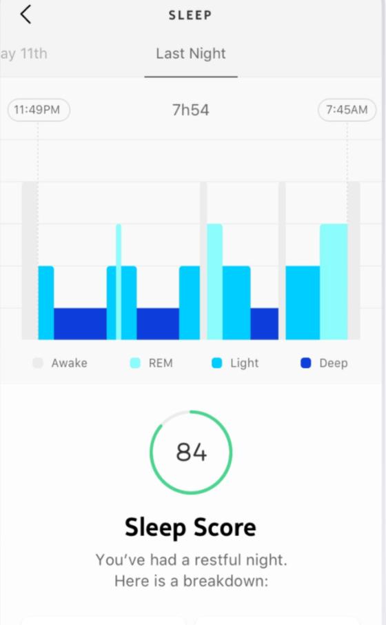 WithingsのHealth Mateアプリで睡眠トラッキングもバッチリ