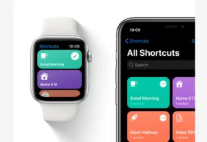 AppleWatchでショートカットが簡単に起動できる