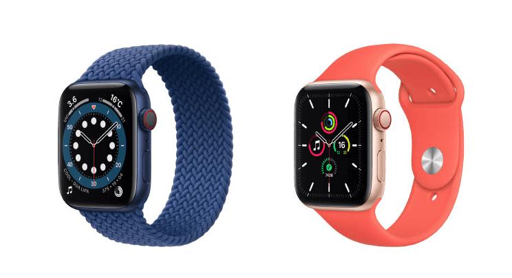 Apple Watchを比較する、SEとシリーズ6