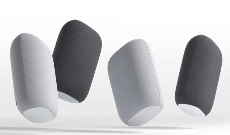 Google Nest Audioは枕みたいで可愛い