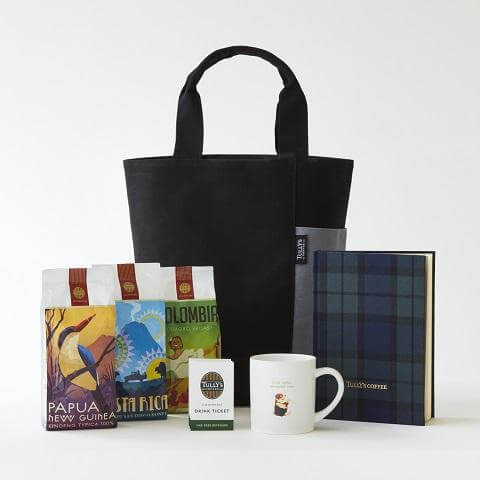 タリーズコーヒーの福袋、2018年の5000円バッグ