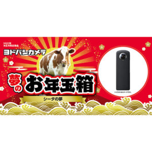 シータの夢が2021年のヨドバシカメラのお年玉箱として販売開始