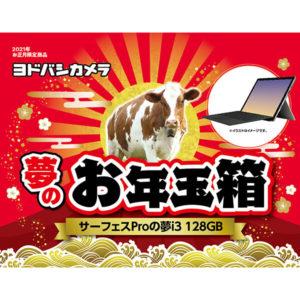 surfaceサーフェスProの夢i3が2021年のヨドバシカメラのお年玉箱として販売開始