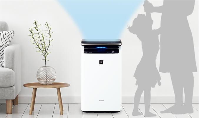 SHARPの空気清浄機は人感で加湿量を調整する