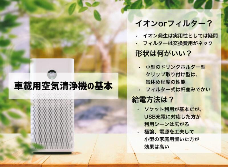 空気清浄機の基本