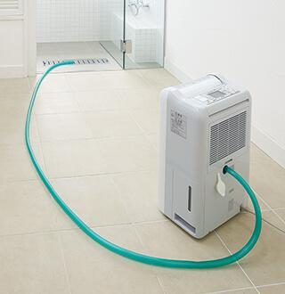 MJ-M100PXはホースで直接排水可能になったので、長時間稼働も実現