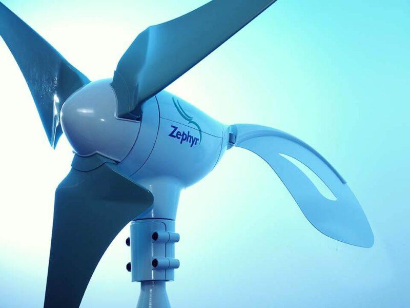美しいデザインの、小形風力発電機の常識を塗り替えた「エアドルフィン」