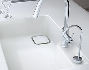 TOTOビルトイン型の浄水器混合水栓
