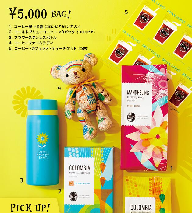 2019年の5,000円コース、過去のタリーズ夏の福袋(Anniversary Bags)