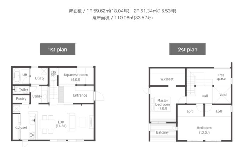 GRADの間取り、新潟でRe-size(リサイズ)で家を建てる