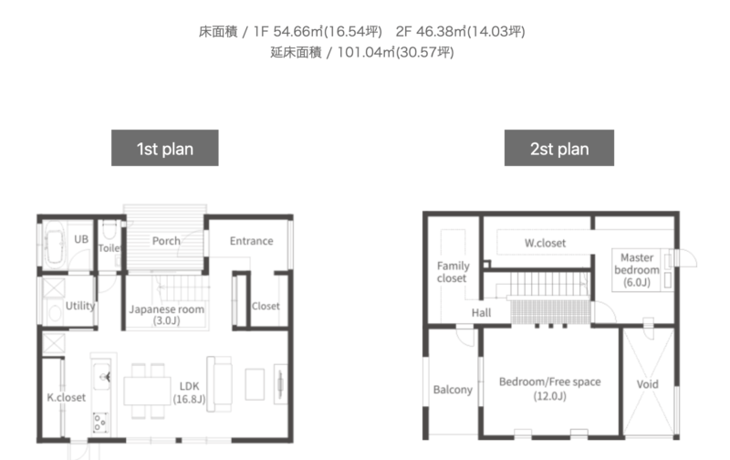 TRETTIOの間取り、新潟でRe-size(リサイズ)で家を建てる