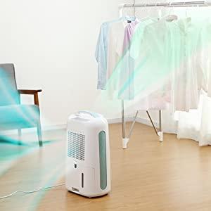 部屋干しにもいい、静かな除湿機・衣類乾燥機