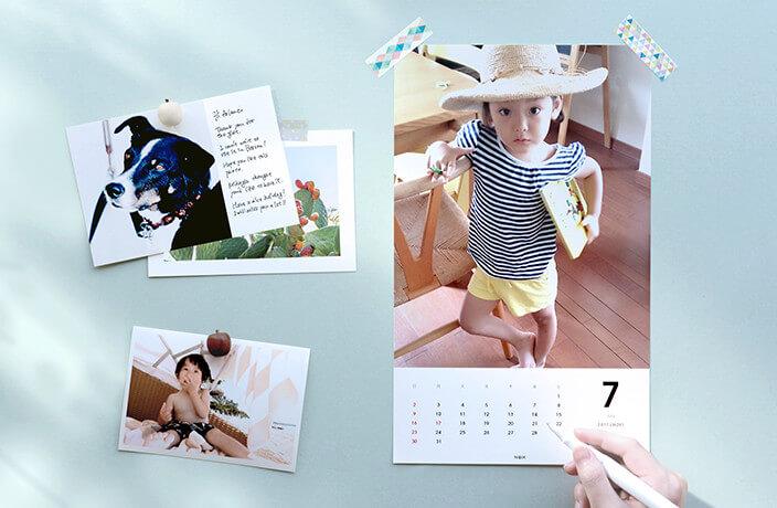 毎月カレンダー、TOLOTのフォトブック・アルバムサービス