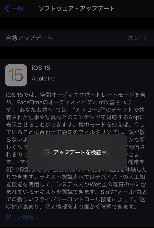 アップデートしてみる、iOS 15にアップデートする際に気をつけることと不具合の対処法