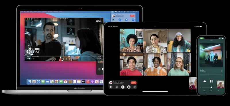 iOS 15の新機能、SharePlayのイメージ