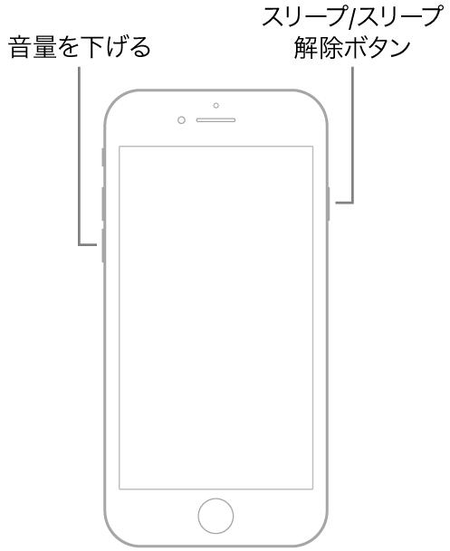ホームボタンがあるiPhone7の再起動、ReiBootでiOS15のインストールエラーから復旧する