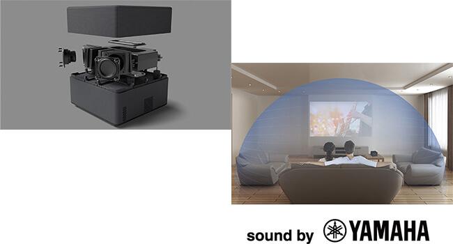 dreamioはヤマハ製スピーカー搭載、プロジェクターと一緒に使うお勧めのスピーカー
