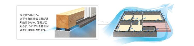 基礎パッキング工法の白蟻予防、新潟県での家づくりをダイエープロビスグリーンハウスに依頼する