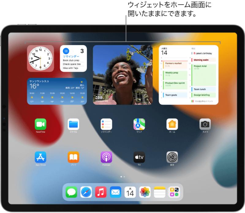 iPadのウィジェット画面、iPad miniはiPhoneの代わりになるか