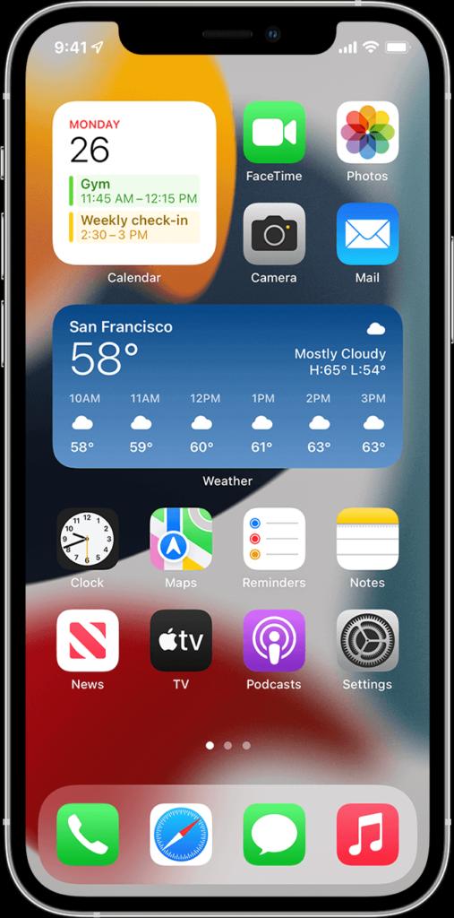 iPhoneのウィジェット画面、iPad miniはiPhoneの代わりになるか
