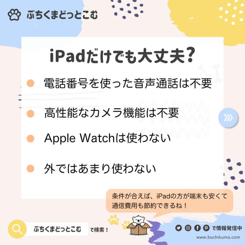 iPadだけではやっていけないかもしれない理由