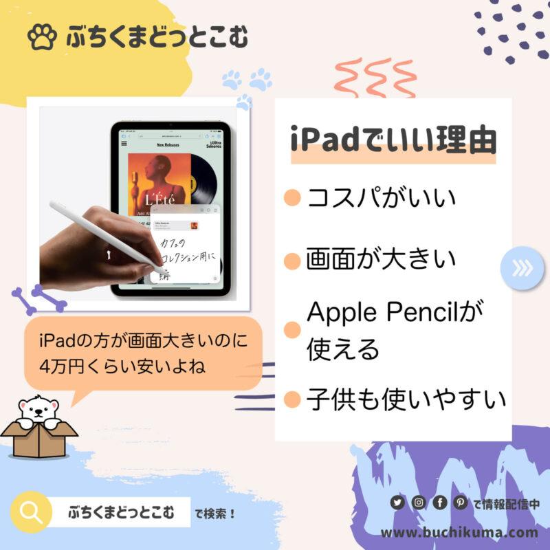 iPadでいい理由
